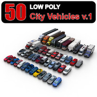 Low Poly City Vehicles vol.1