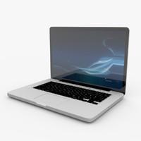 3d model realistic laptop