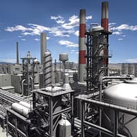 industrial plant complex oil max