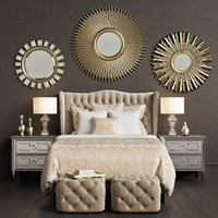 zgallerie jameson bed - 3d max
