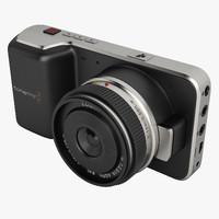 3d blackmagic pocket camera model