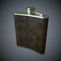 3d leather pocket bottle pbr model