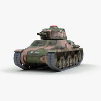 ww2 hotchkiss tank 3d model