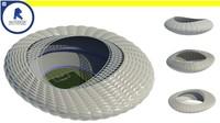 3d parametric stadium - computational model