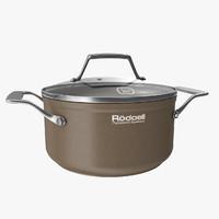 3d brown pan model