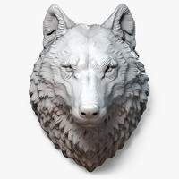 max wolf head sculpture