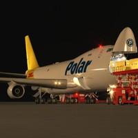 B 747-400F Polar Air Cargo Loading Operation Scene