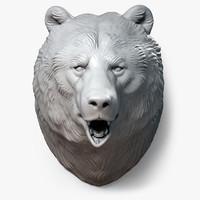 bear head sculpture 3d max