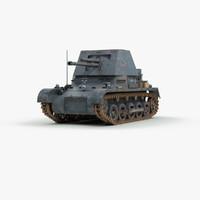 3ds ww2 german panzerjager 1 tank