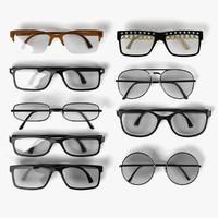 3d model glasses set