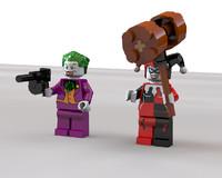 3d lego joker harley quinn