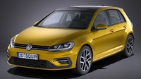 3d model of volkswagen golf 2017