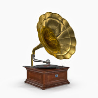 3d old phonograph