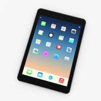 tablet mini generic 3d model