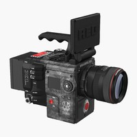 3d model movie camera red weapon