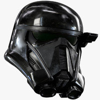 3d model death trooper helmet printable