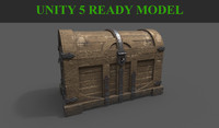 3d old pirate chest model