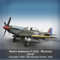 cinema4d north american p-51d p-51 mustang