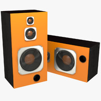 realistic speakers 3d model