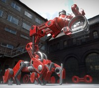 The Walking Mech Neck Red Version