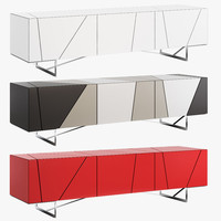 3d model sideboard lines ligne roset