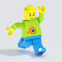 blend lego minifigure fully rigged