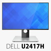 3d dell u2417h monitor model