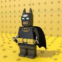 lego batman man 3d model