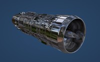 3d model of jet engine