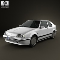 renault 19 hatchback 3d model