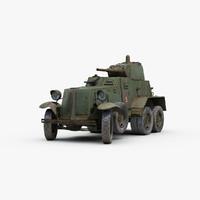 3d ww2 soviet ba10 armored
