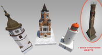 3d model pack small towers