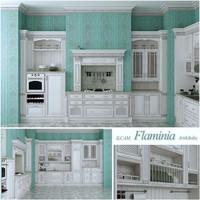 Italian kitchen flaminia in interior
