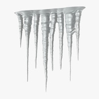 ice icicles 3d model