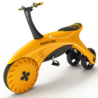 3d model electric children bicycle