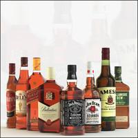 bottle whiskey 3d max
