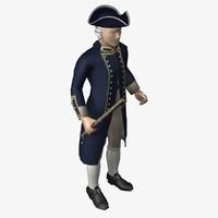 royal navy officer obj