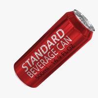 500ml 16.9oz Standard Beverage Can