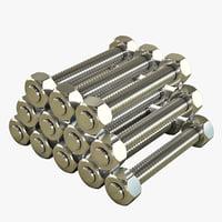 3d rods crate cards gasket model