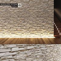 seamless stone wall 4 3d max