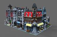 lego toy 3d c4d