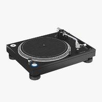 professional dj turntable 3D model