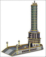 3D sci-fi skyscraper