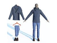 3D hoodie jeans loafers men s