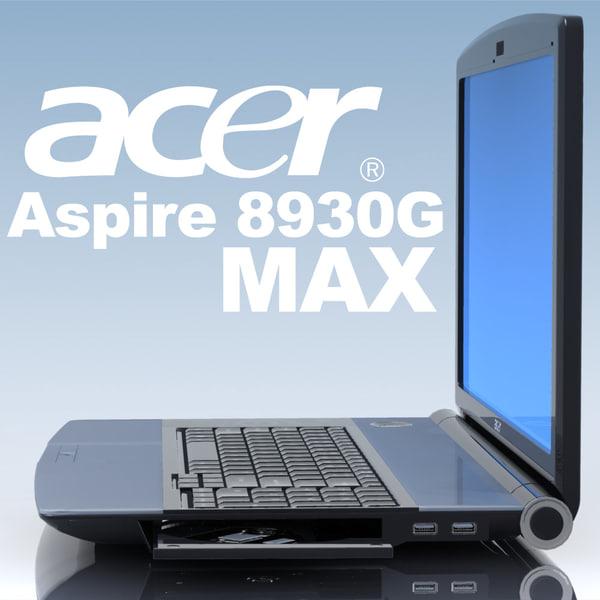 notebook acer aspire 8930g 3d max